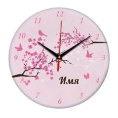 Именные настенные часы Весна