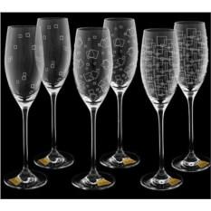 Набор бокалов для шампанского Гранд микс Wintime