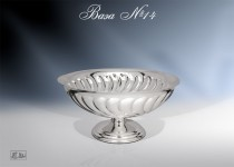 Серебряная ваза №14