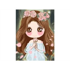 Картина по номерам «Девочка с розами»