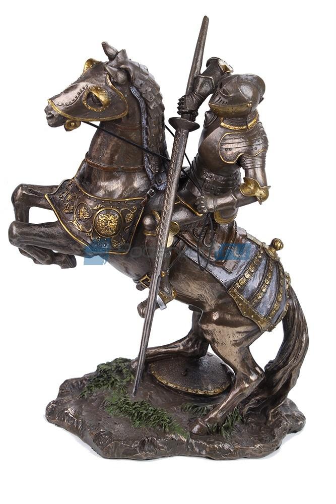 Статуэтка Рыцарь на коне с копьем