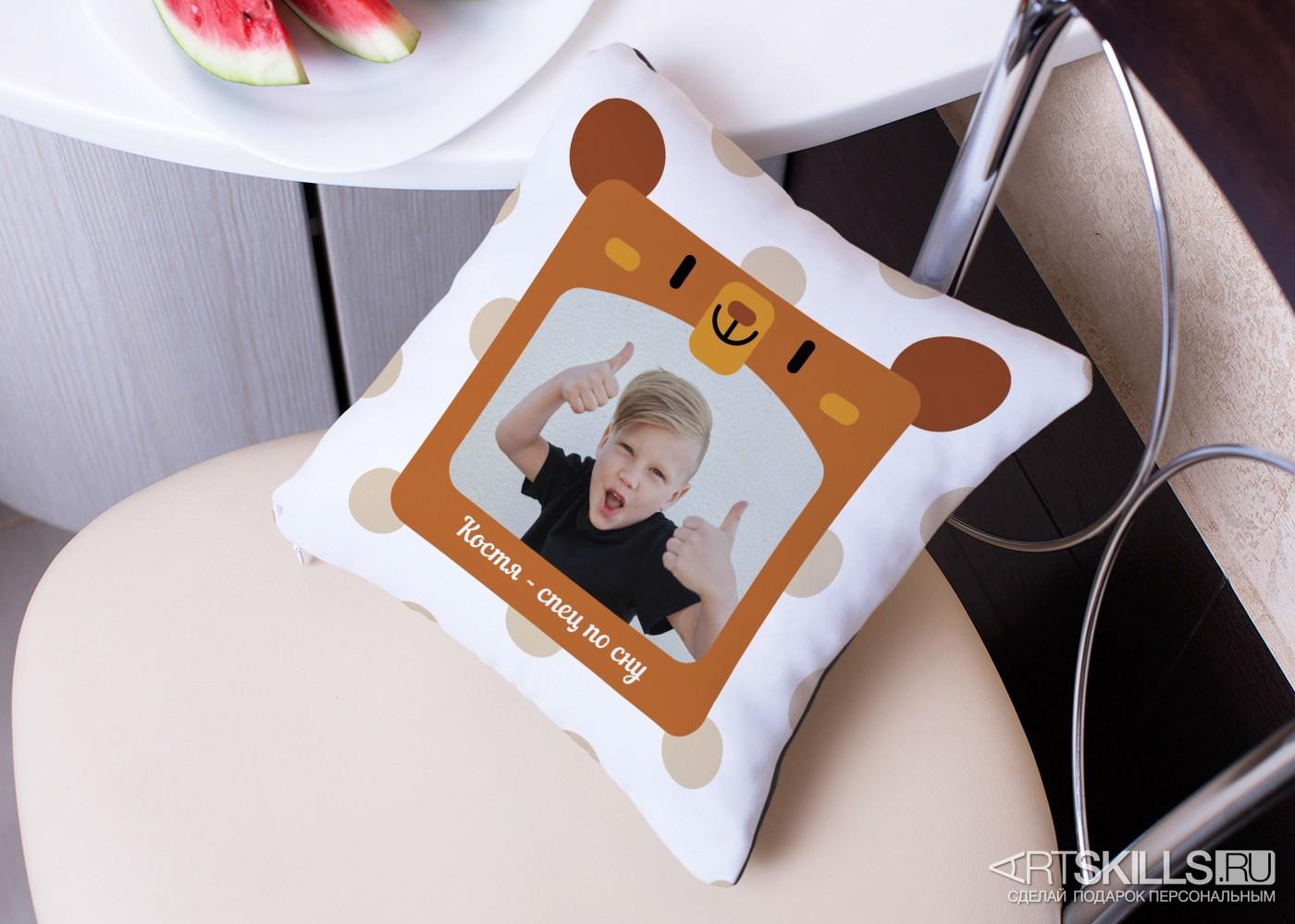 Подушка «Маленький соня» с вашей фотографией