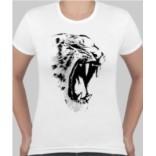 Женская футболка Белый тигр