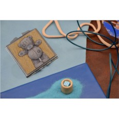 Карманное зеркальце с принтом Теплый мишка
