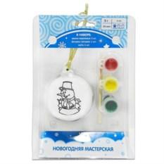 Набор для детского творчества Роспись шарика. Снеговик