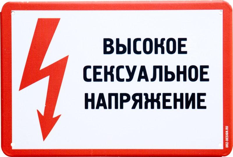 Табличка на дверь Высокое сексуальное напряжение, металл