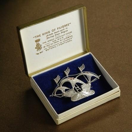 Брошь «Королевский филигранный парусник»