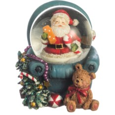 Фигурка в стеклянном шаре Дедушка Мороз