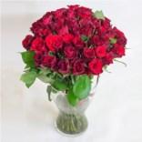 Букет из 51 красной розы (РФ) высотой 40 см