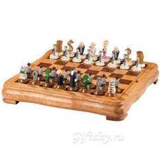 Подарочные шахматы Коммерсанты против чиновников