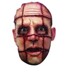 Латексная маска Лицо в клетку