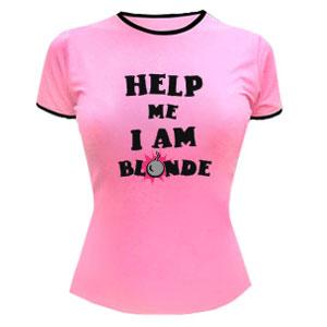 Футболка Help me I am blonde