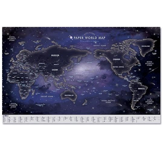 Флуоресцентная карта мира Glow