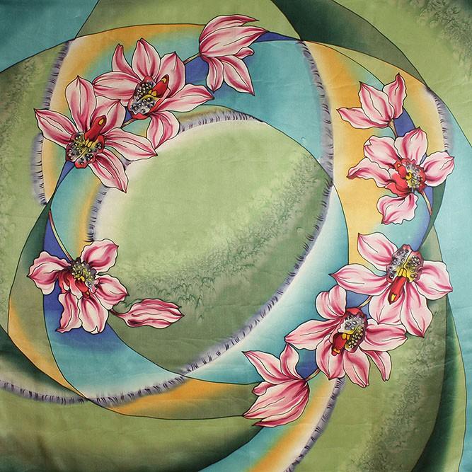 Платок «Орхидеи»