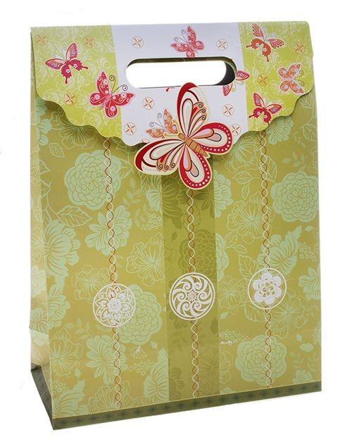 Подарочный пакет-коробочка Бабочка