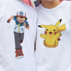 Парные футболки «Эш и Пикачу»