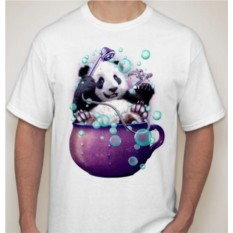 Футболка Панда в душе