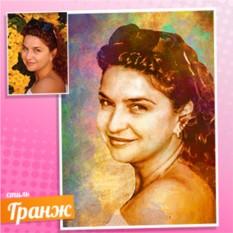 Женский портрет на холсте по фото в стиле Гранж