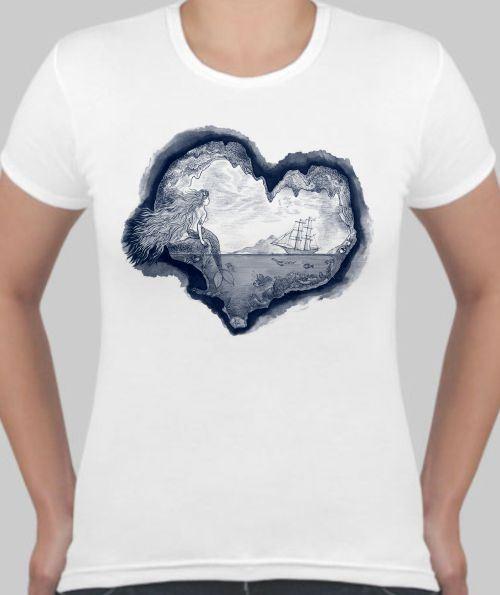 Женская футболка Русалка