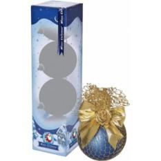 Набор сине-золотых новогодних шаров «Паутина»