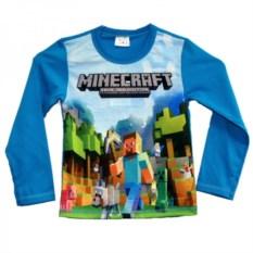 Футболка с длинными рукавами Minecraft Стив с киркой