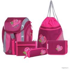 Розовый набор для школы с ранцем Step by Step School