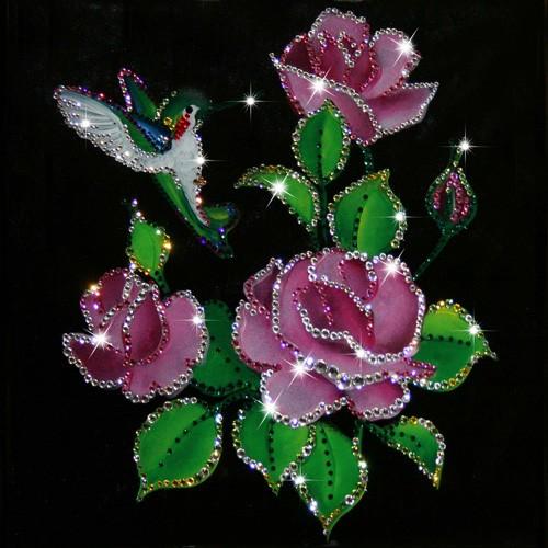 Картина с кристаллами Сваровски Райский сад