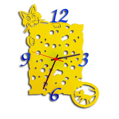 Настенные часы для кухни «Сыр»