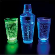 Набор из 2 LED стаканов и шейкера
