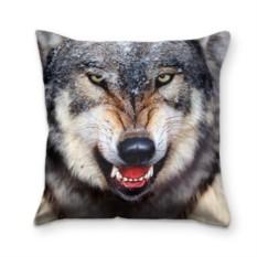 Подушка с 3D принтом Волк