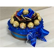 Декорированная коробка с печеньем Синий торт