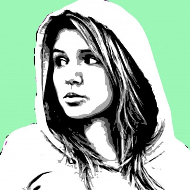 Портрет поп арт на холсте