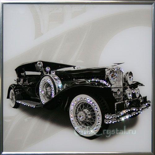 Картина с кристаллами Swarovski Ретро авто