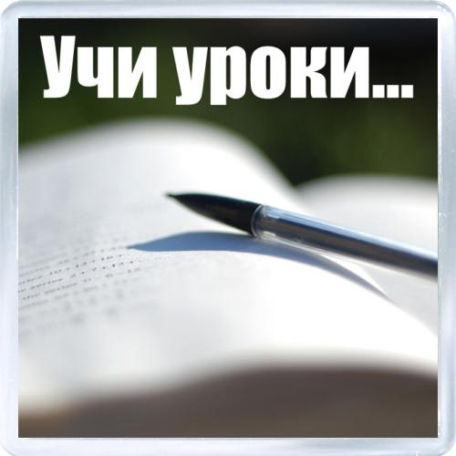 Магнитный подарок: Напоминание. Учи уроки...