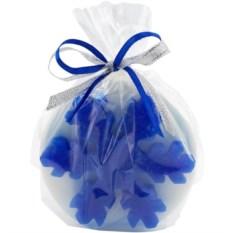 Синяя свеча «Снежинка»
