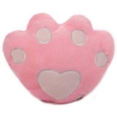 Подушка с подсветкой Лапа розовая