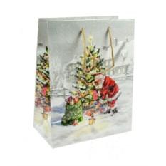 Бумажно-ламинированный пакет Новогодний с дедом Морозом