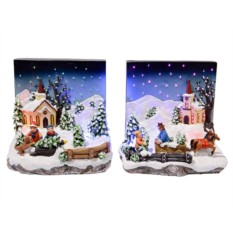 Светящаяся миниатюра Накануне рождества