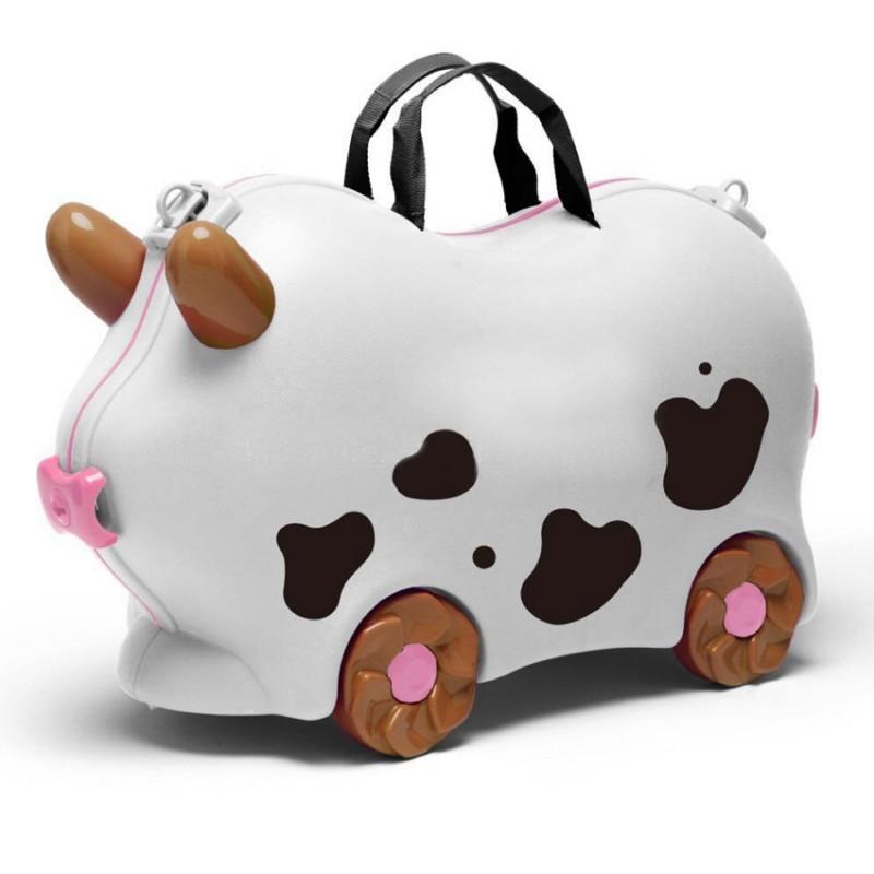 Детский чемодан Kidsmile Корова (Белый)