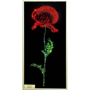 Хрустальные цветы: Картина  «Мак»