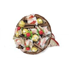 Букет из конфет Коричневый микс 17