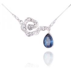 Кулон с синим кристаллом Сваровски «Легкая ассиметрия»