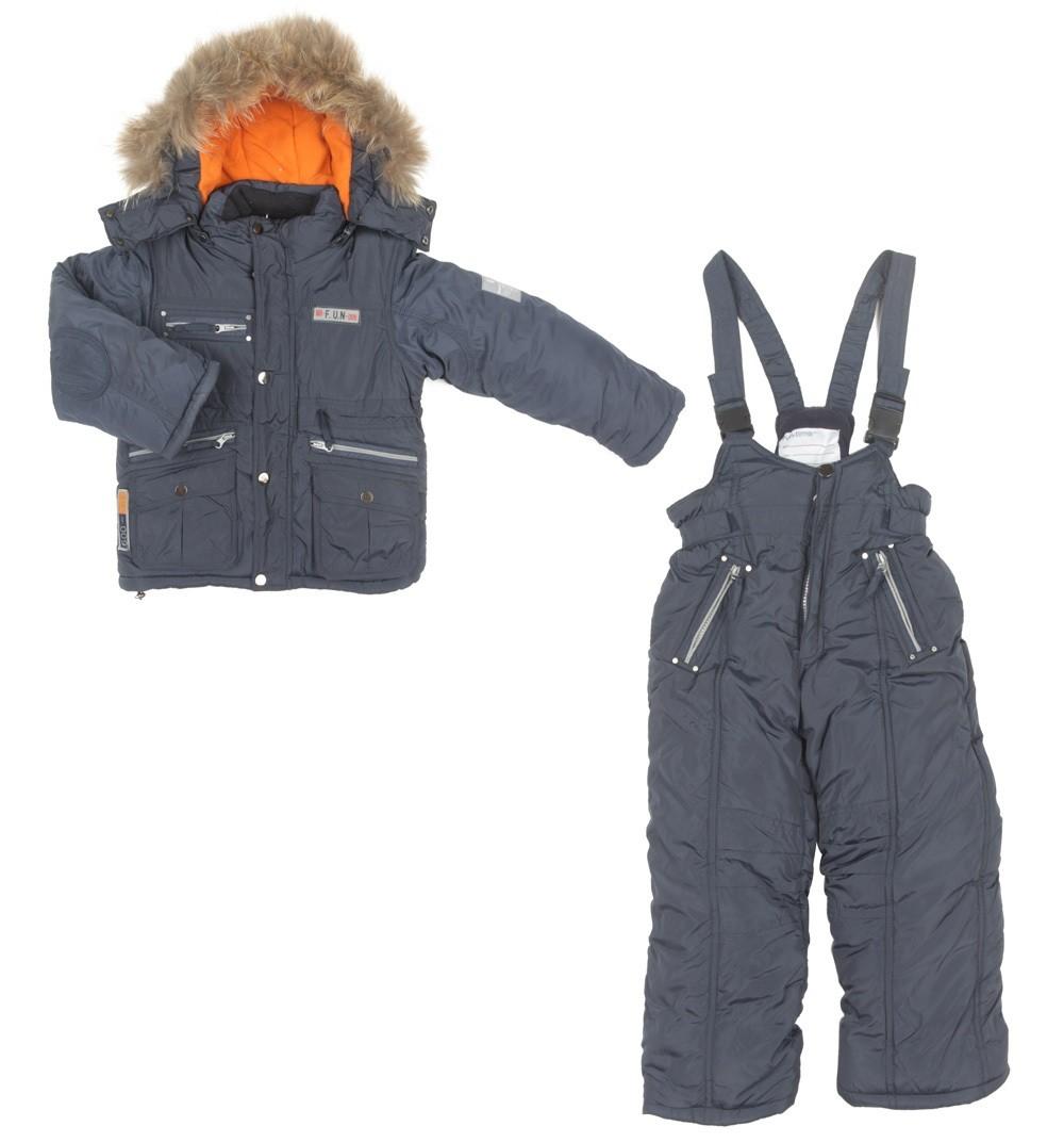 Комплект Fun Time куртка и полукомбинезон, цвет: голубой