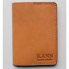 Оранжевая обложка для паспорта из натуральной кожи