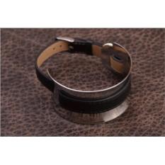 Браслет Cojet (черный, с металлом; нат. кожа)