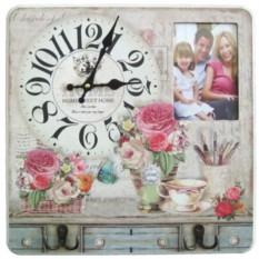 Настенные часы-фоторамка Милый дом