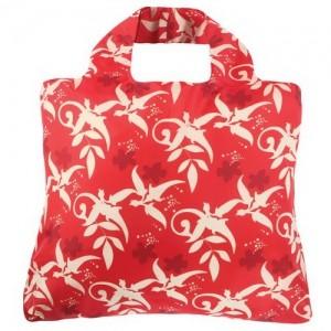 Эко-сумка Узоры красная