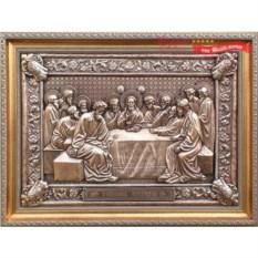 Картина из металла Тайная вечеря, размер 58 х 43 см
