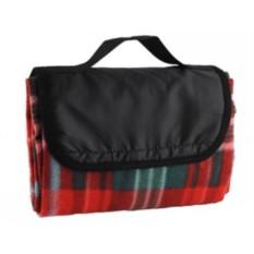 Плед для пикника с непромокаемой подкладкой (красный)