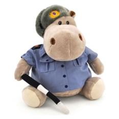 Мягкая игрушка Бегемот - полицейский